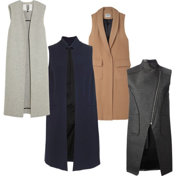 """""""sleevless coat"""" by melopepa on Polyvore"""