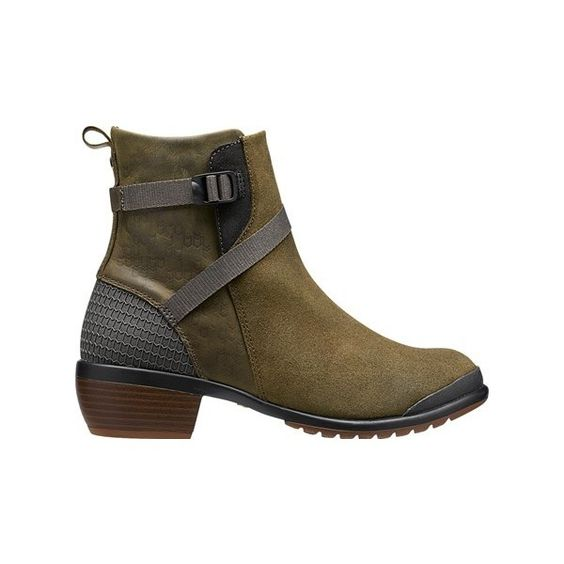 KEEN Footwear - Women's Morrison Mid ($150) ❤ liked on Polyvore featuring shoes, genuine leather shoes, arch support shoes, leather footwear, keen footwear shoes and strappy shoes