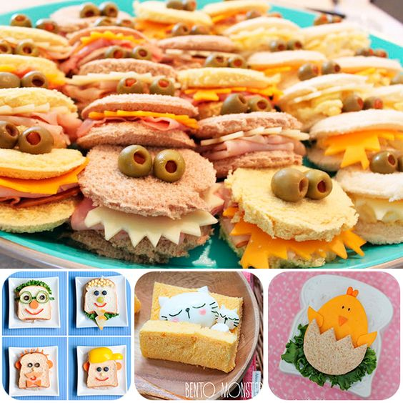 Bocadillos recetas and monstruos on pinterest for Comidas originales y faciles