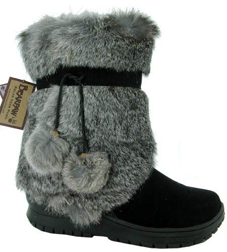 BEARPAW Women's Tama Rabbit Fur Boot