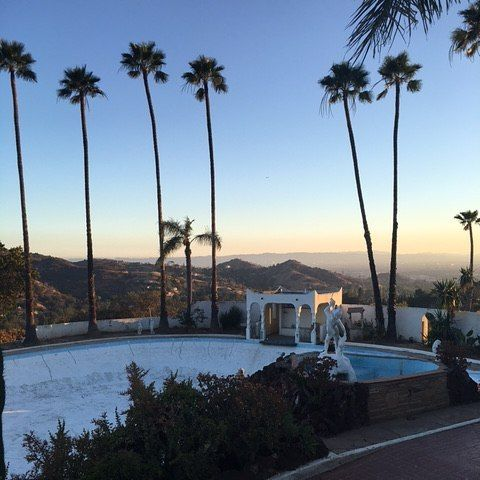 Wishing everyone a peaceful day #goodmorning #furstcastle #filmlocation #onset #losangeles #setlife #california