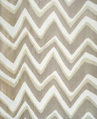 Chevron Bar Silk Warp in Praline from Brunschwig & Fils #fabric #silk