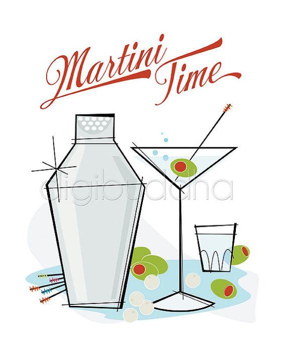 Modern Martini Clip Art
