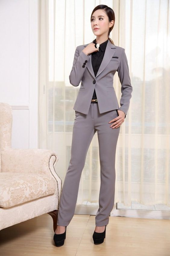 Womens Suits Blazer With Pants New 2015 Fashion Formal Office ...