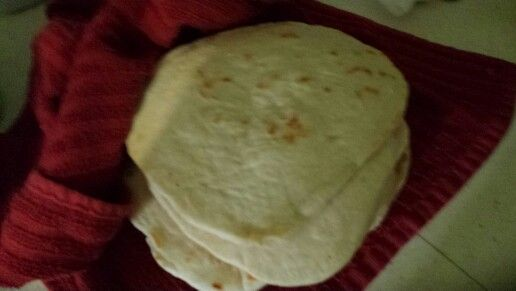 Yummy homemade tortillas