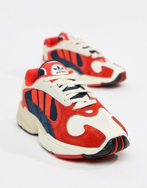adidas Originals Yung-1 Trainers In Red Multi ...