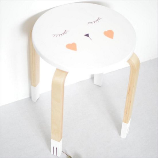 tabouret frosta ikea customisation marie la pirate blog déco décoration enfant babayaga magazine