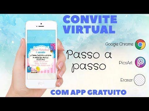 Fazer Convite De Aniversario Pelo Celular Passo A Passo Youtube Com Imagens Convite De Aniversario Fazer Convite Virtual Convite Virtual Aniversario