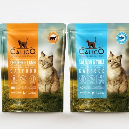 Calico Need A Design For Dry Cat Food Bag 2kg Product Packaging Contest Design Product Packaging Doorforpet In 2020 Pet Food Packaging Cat Food Cat Food Brands