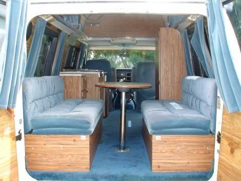 1984 ford e 150 used conversion van white blue stripes