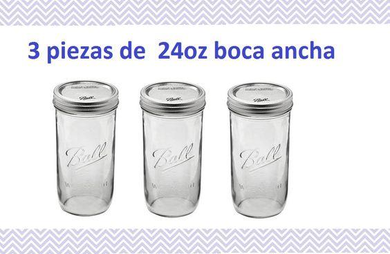 24 oz ball mason jars  Envios a todo Mexico. Descuentos especiales al Mayoreo   tienda en linea:  www.kichink.com/stores/quieromasonjars#.VC7M8vldWVM www.facebook.com/quieromasonjars      twitter:  @QuieroMasonJars     http://www.pinterest.com/QuieroMasonJars/