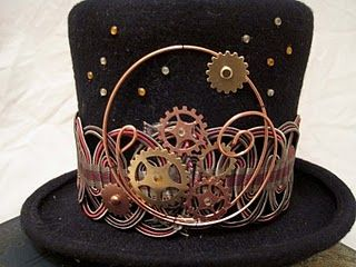 SteamPunk - Accessorie - Hat -Gears Everything steam has gears. Its getting a bit overdone. But this is pretty.