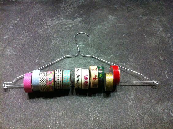 Ma collection de Masking Tape sur un cintre métal...... http://iletaittemps.canalblog.com