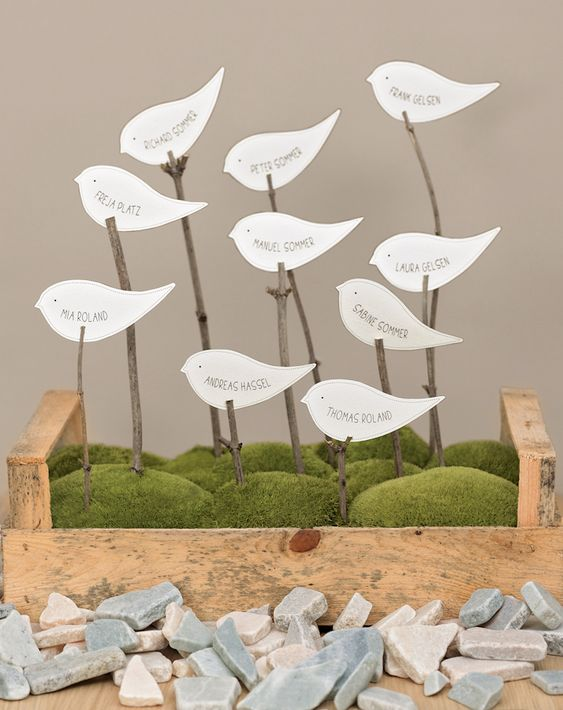 Platzkarte Vogel - Hier sind die Vögel aus aller Welt bereits gelandet und suchen ihren Platz.