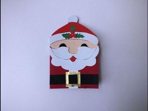 Manualidades: TARJETA de Navidad o crisma de PAPÁ NOEL | Christmas card Santa Claus