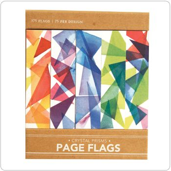 Crystal Prisms Page Flags from Girl of All Work