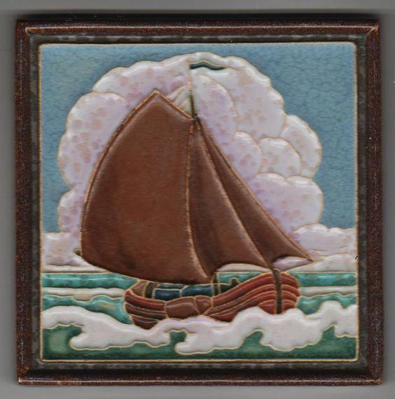 Jugendstil Fliese Kachel Art Nouveau Tile PORCELEYNE FLES 2