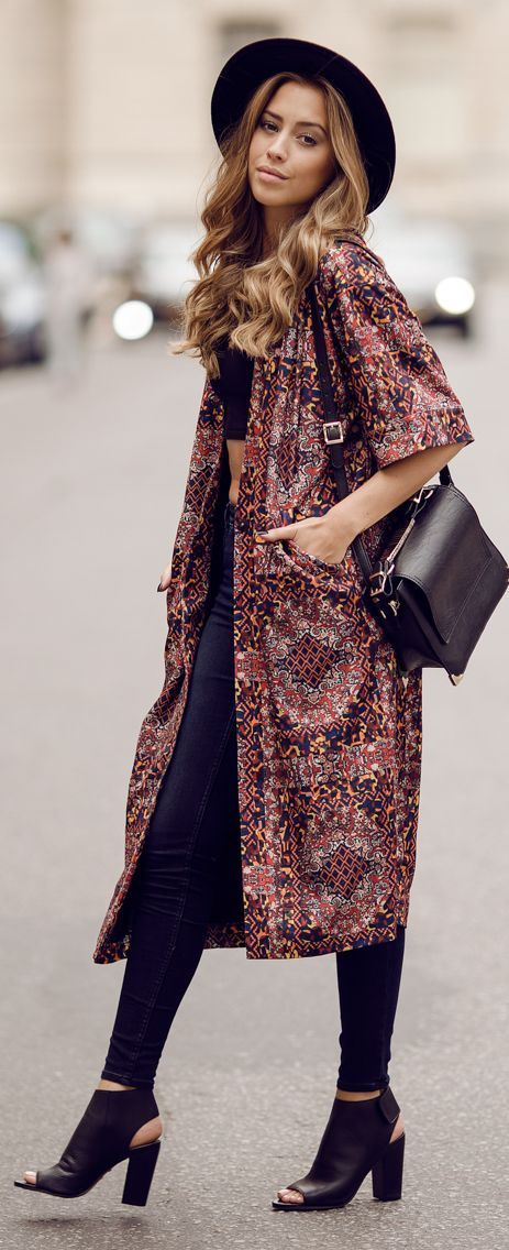 How to do the Boho Chic Look for Fall | Chic outfits Kimonos and E online