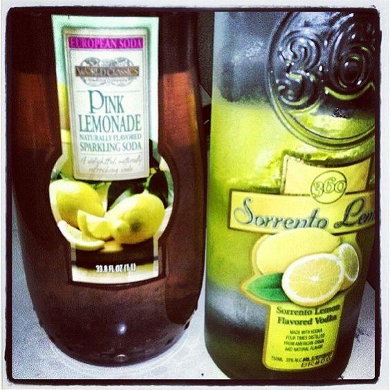 360 Serrento Lemon vodka with lemonade! #360Vodka
