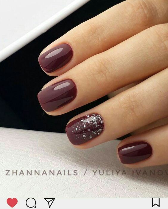26 Trending Deep Winter Nail Colors And Designs For 2019 Wine