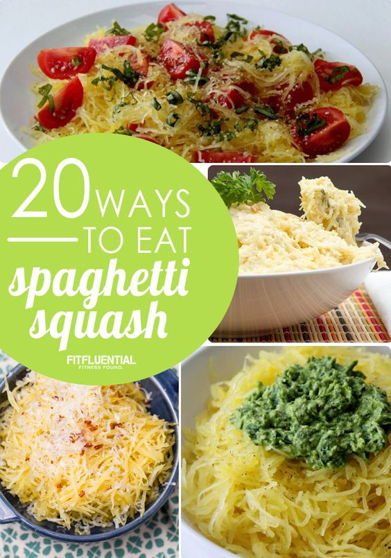 Lower in carbs and calories - swap out spaghetti squash for traditional pasta spaghetti. Here's 20 recipes to try.
