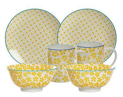 Ritzenhoff & Breker Frühstück-Set, gelb, Porzellan, 6 Teile, MAKINA