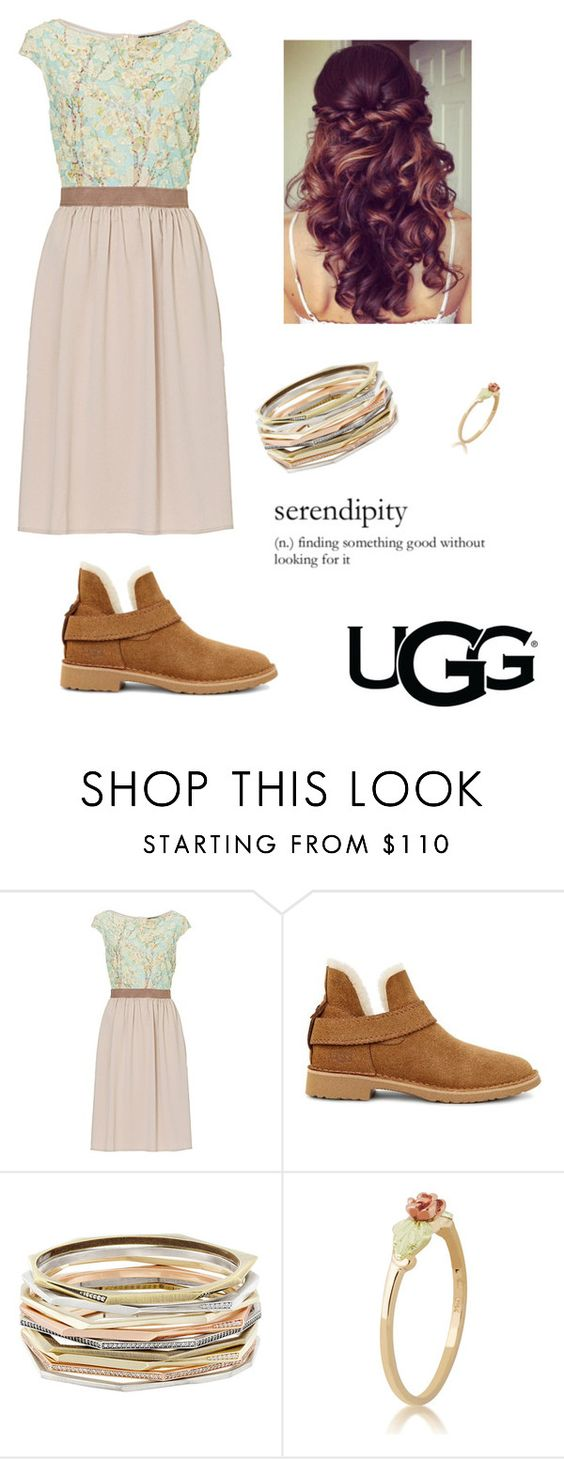"""""""The New Classics With UGG: Contest Entry"""" by hazelvictoria ❤ liked on Polyvore featuring UGG, Betty Barclay, Kendra Scott and ugg"""