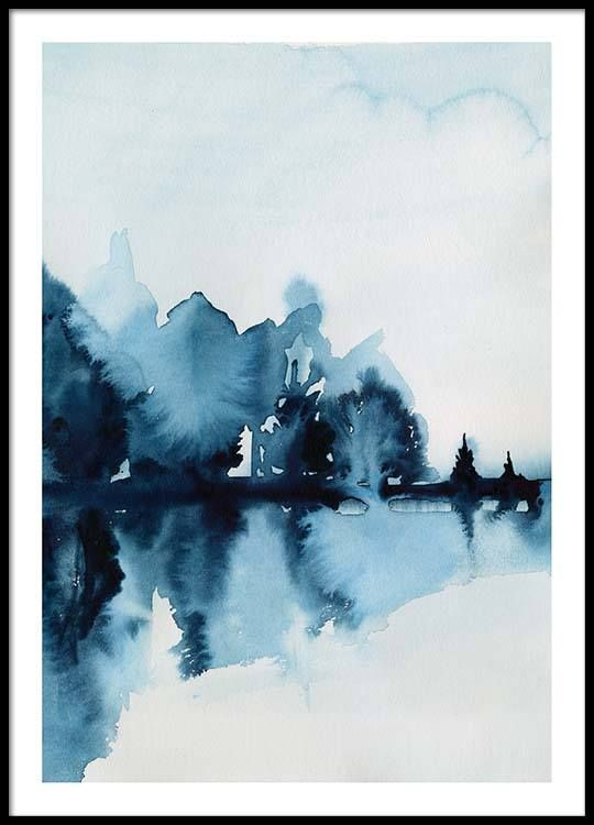 Watercolor Reflection Poster Poster Prints Modern Art Prints