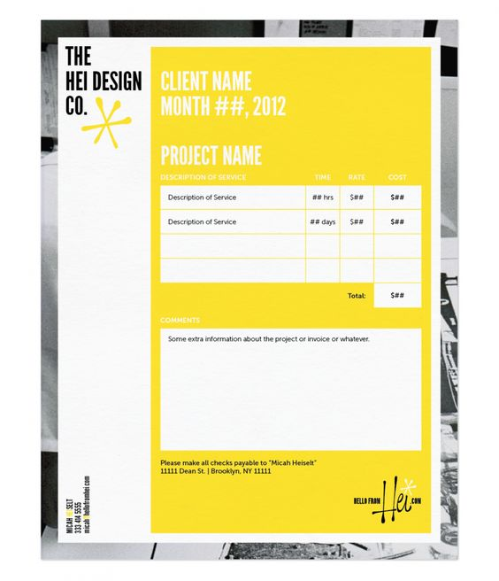 Invoice Design 50 Examples To Inspire You Cv - an example of an invoice