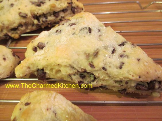 Chocolate Mint Scones