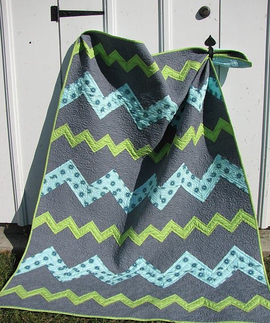 Large and small chevron