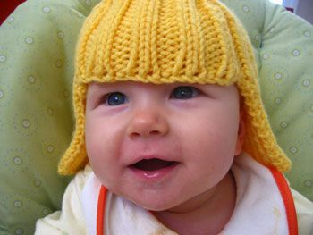 RYB loves a baby in a knitted wig - this one is virtually indetectable!