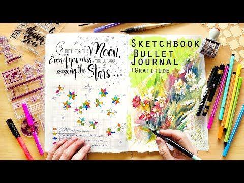 2 My Sketchbook Bullet Journal Gratitude J April 2018