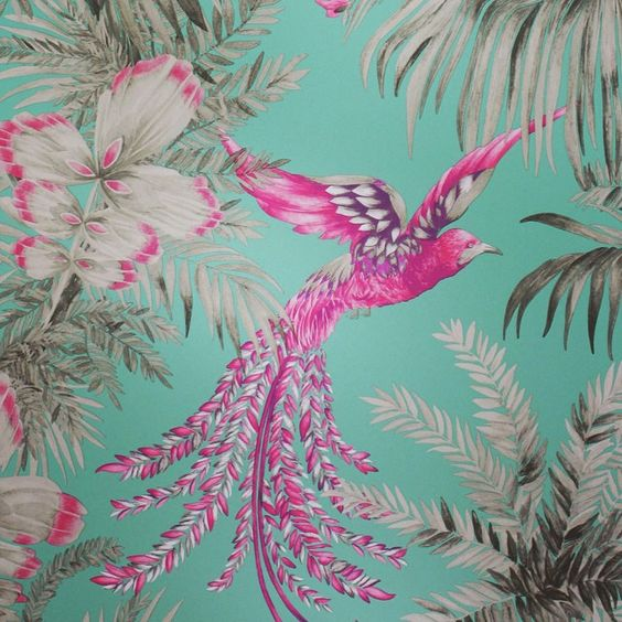 My new Bird of Paradise wallpaper @osborneandlittle Matthew Williamson IG