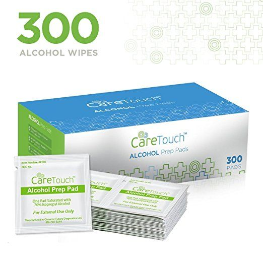 Care Touch Sterile Alcohol Prep Pads Medium 2 Ply 300 Alcohol