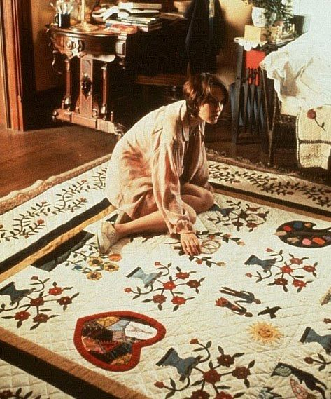 "How to Make an American Quilt. I love this movie in so many ways. The quilt made for this movie is called, ""Where Love Resides"" and it is beyond beautiful.:"