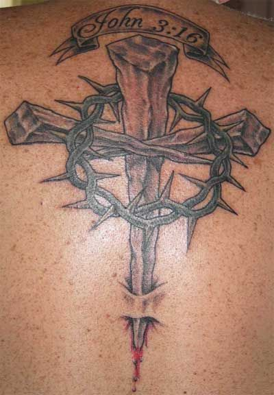 Two Nails Crossed Tattoo Meaning: Religious Tattoos > A Web Site
