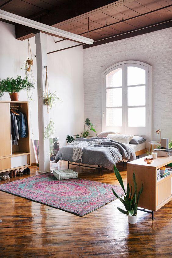 Gorgeous wood floors in loft
