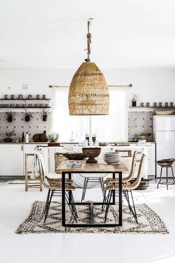 Idee Per Arredare Casa In Stile Naturale Mobili In Stile Naturale Interni Casa Design Della Sala Da Pranzo Arredo Interni Cucina