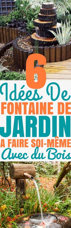 6 idées de FONTAINE de Jardin à FAIRE soi-même avec du Bois - faire son plan de maison soi meme