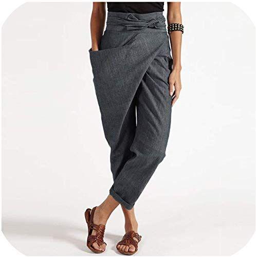 SportsX Womens Harem Pants Palazzo Trousers Relaxed Plain Regular Pants
