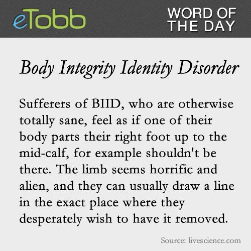 desire to be disabled body integrity identity disorder Transabled: disabled by choice, body integrity identity disorder makes people feel like impostors in their own bodies by staff reporter jun 03, 2015 03:22 am edt caitlyn jenner has brought attention to the transgender community, but another group - transabled - is talking about the struggles of being able-bodied.