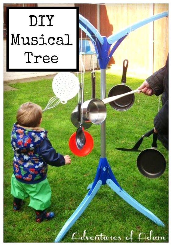 Musical tree day 10 toddler play challenge trees for Diy music projects