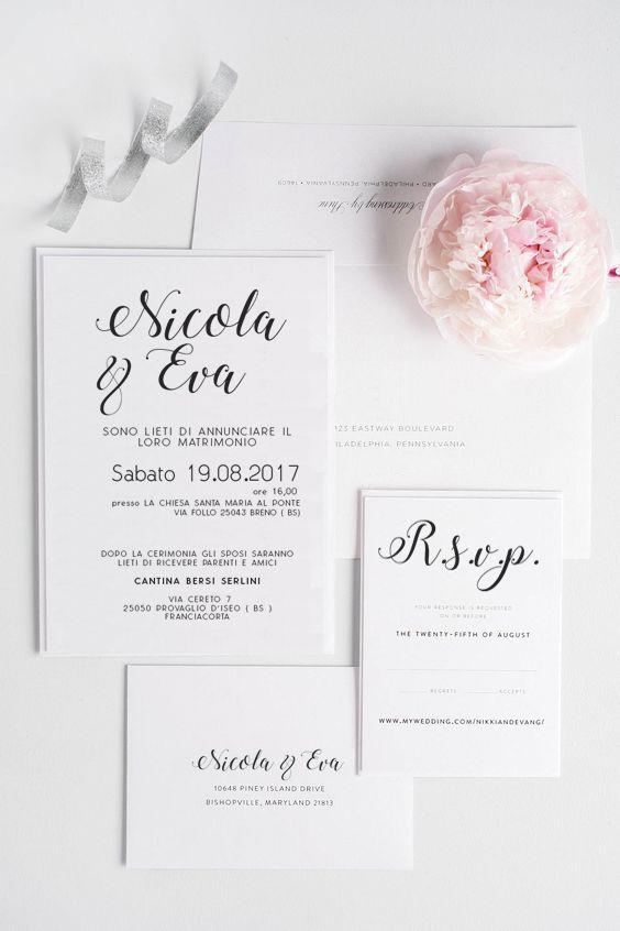 Partecipazioni Matrimonio Online.E Coordinati Di Matrimonio Online Elegant Wedding Invitations