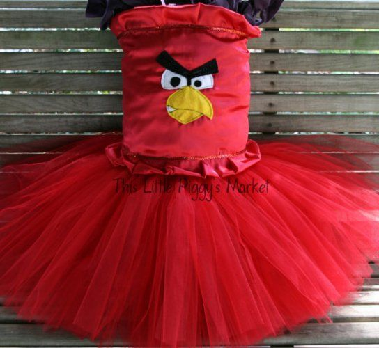 Red Angry Birds Tutu/Corset Costume