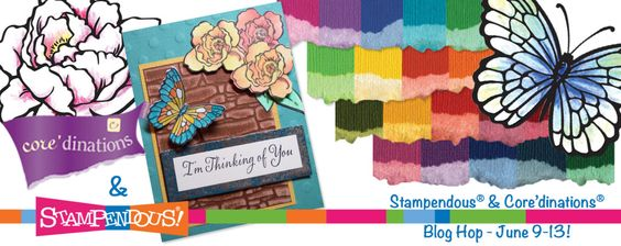 TODAY is the last day of an AWESOME week of CREATIVE INSPIRATION of the Core'dinations - Stampendous Blog Hop