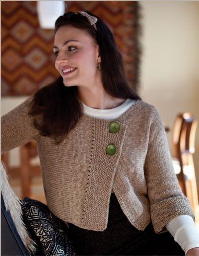 Cropped Cardigan Knitting Patterns Side to side ...