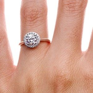 I know I have posted lots of rings. BUT this is it. This is the ring I want. Please someone show him this! It is perfect and classic like him but different like me!   This is me, Samm saying this and not text from  previous post. I have fallen in love with Rose Gold the the Halo Cut. Also, it is a conflict free diamond! How perfect????