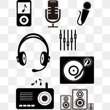 Hand Drawn Black Music Small Icon Png And Vector How To Draw Hands Music Clipart Black Music