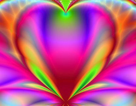 Beautiful psychedelic and love heart on pinterest for Bright pretty colors